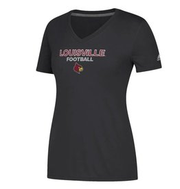 Adidas Sports Licensed TEE, LADIES, SS, ADIDAS, SIDELINE FOOTBALL, BLACK, UL