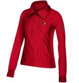 Adidas Sports Licensed PULLOVER, LADIES, ADIDAS, 1/4 ZIP, RED, UL