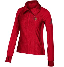 Adidas Sports Licensed PULLOVER, LADIES, ADIDAS, 1/4 ZIP, RED, UL