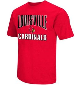 Colosseum Athletics TEE, SS, DUAL BLEND NAME, RED, UL