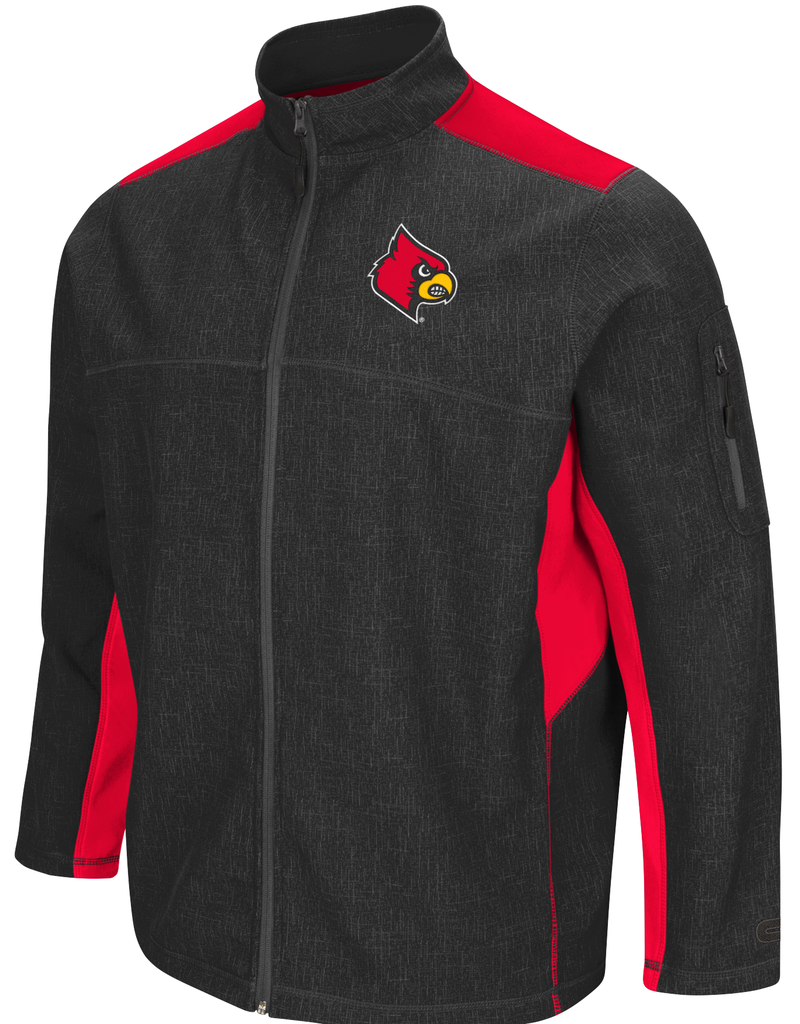 Colosseum Athletics JACKET, FULL-ZIP,  ACCEPTOR, CHARCOAL/RED, UL