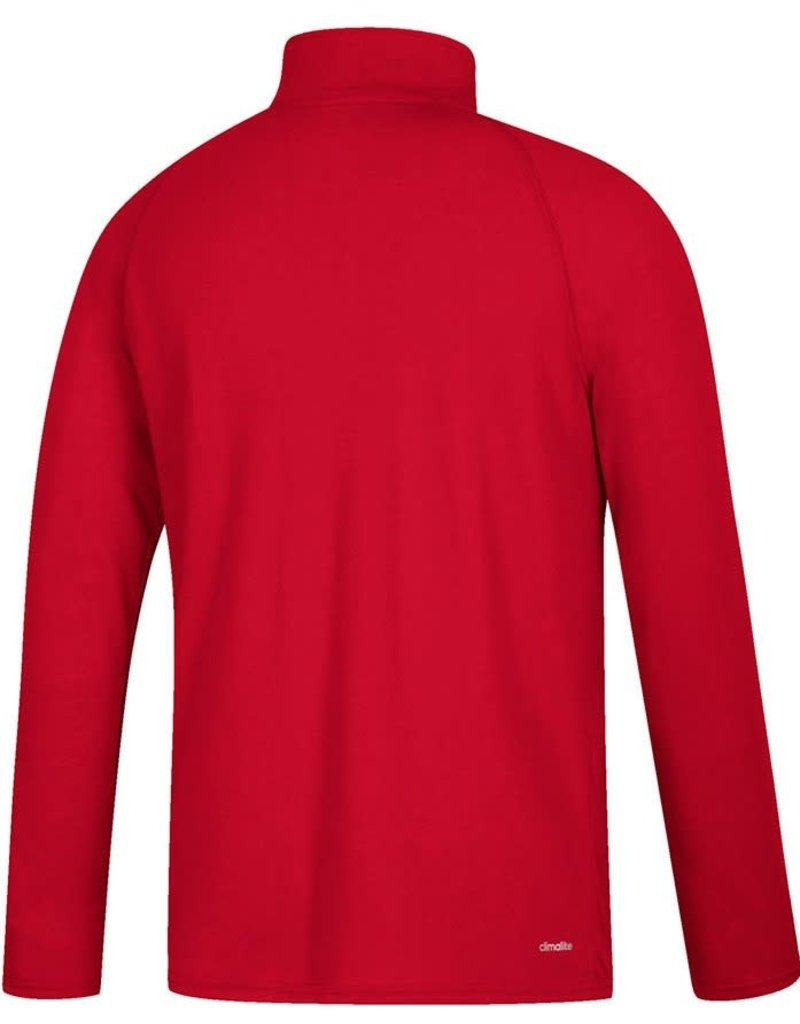 Adidas Sports Licensed PULLOVER, 1/4 ZIP, ADIDAS, CHEST WHIP, RED, UL