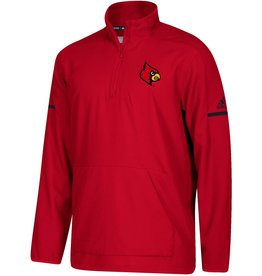 Adidas Sports Licensed PULLOVER, 1/4 ZIP, ADIDAS, ICONIC WOVEN, RED, UL