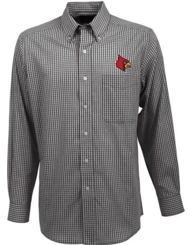 Antigua Group DRESS SHIRT, LS, ASSOCIATE, BLACK, UL