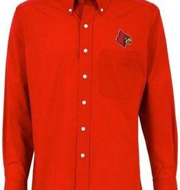 Antigua Group DRESS SHIRT, LS, DYNASTY, RED, UL