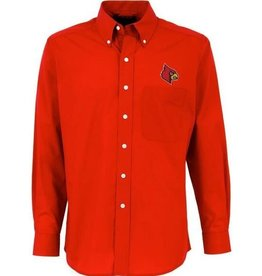 Antigua Group DRESS SHIRT, LS, DYNASTY, RED, UL