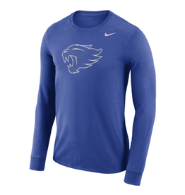 Nike Team Sports TEE, LS, NIKE, NEW LOGO, ROYAL, UK