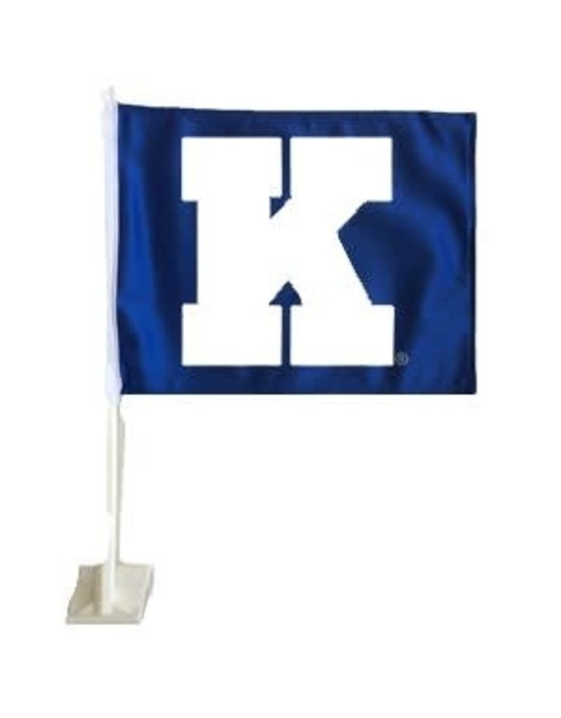 CAR FLAG, K, ROYAL/WHITE, UK