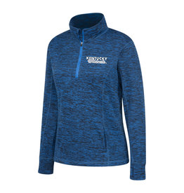 Top of the World PULLOVER, LADIES, 1/4 ZIP, CONTRAST, ROYAL, UK