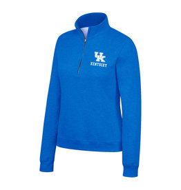 Top of the World PULLOVER, LADIES, 1/4 ZIP, ESSENTIAL, ROYAL, UK