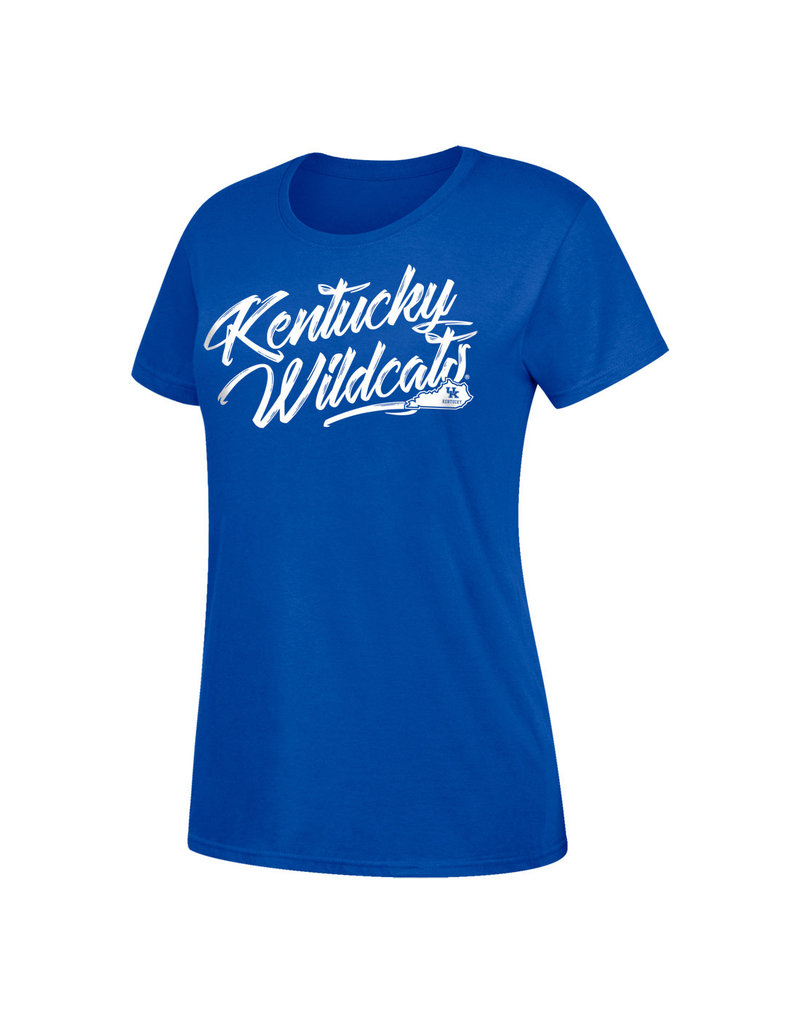 Top of the World TEE, WOMENS, SS, BASIC, KW, ROYAL, UK