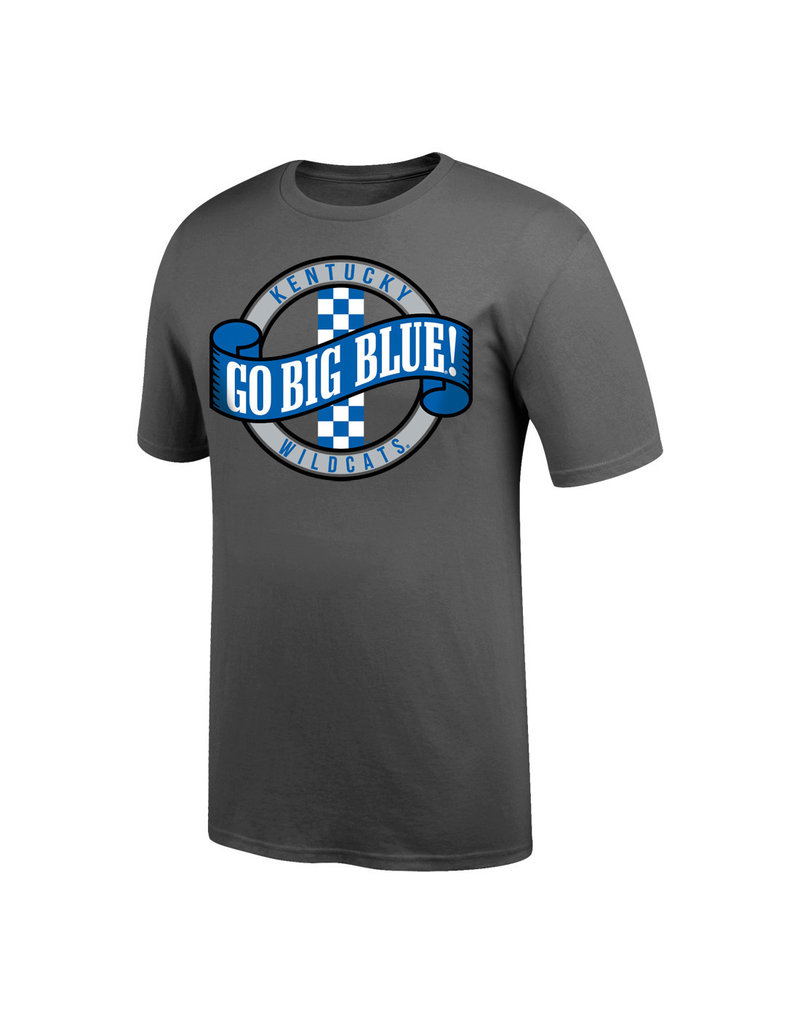 Top of the World TEE, SS, GO BIG BLUE, GRAPHITE, UK