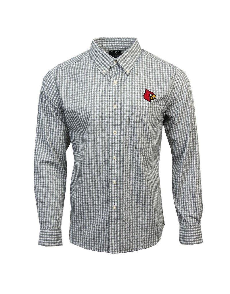 Antigua Group DRESS SHIRT, LS, STRUCTURE, BLACK, UL
