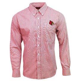 Antigua Group DRESS SHIRT, LS, STRUCTURE, D. RED, UL