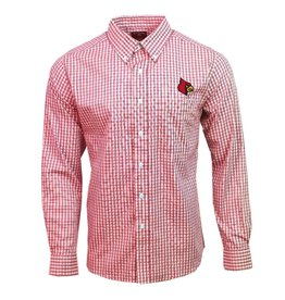 Antigua Group DRESS SHIRT, LS, STRUCTURE, D. RED, UL