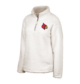 Top of the World PULLOVER, LADIES, 1/2 ZIP, SHERPA, WHITE, UL