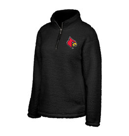 Top of the World PULLOVER, LADIES, 1/2 ZIP, SHERPA, BLACK, UL