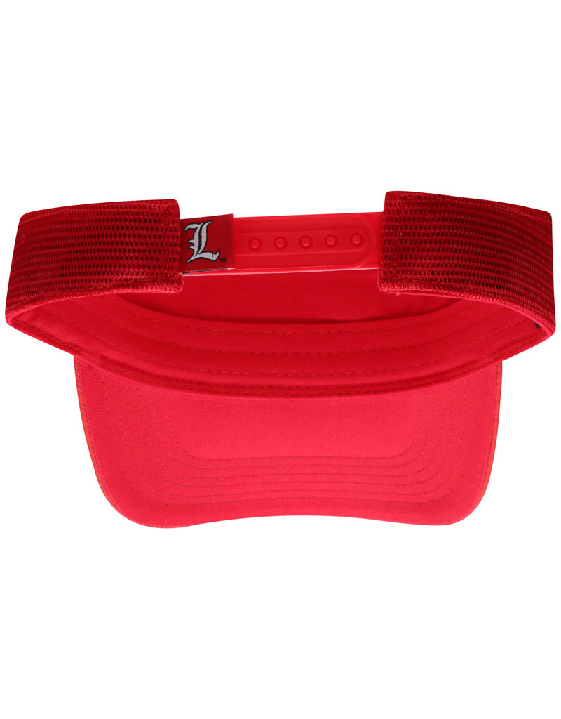 Top of the World VISOR, ADJUSTABLE, INTRUDE, RED, UL