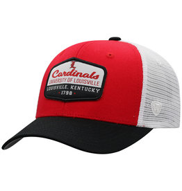 Top of the World HAT, ADJUSTABLE, VERGE, RED/WHT, UL