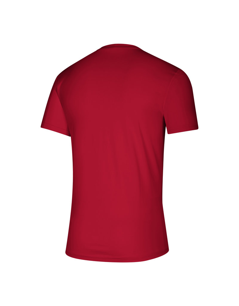 Adidas Sports Licensed TEE, SS, ADIDAS, LOCKER STACKED, RED, UL