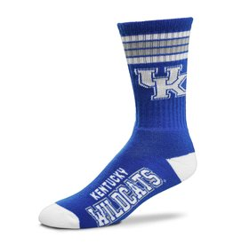 Bare Feet SOCKS, 4-STRIPE, ROYAL, 10-13, UK