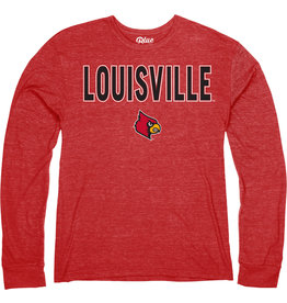 BLUE 84 TEE, LS, TOP STORY, RED, UL