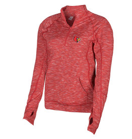 PULLOVER, LADIES, TOUCHDOWN, RED, UL