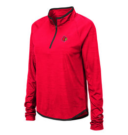 Colosseum Athletics PULLOVER, LADIES, 1/4 ZIP, SOULMATE, RED, UL