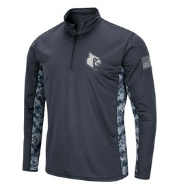 Colosseum Athletics PULLOVER, 1/4 ZIP, DIGITAL CAMO, CHAR/CAMO, UL