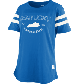 Pressbox TEE, LADIES, JERSEY NADIA, ROYAL, UK