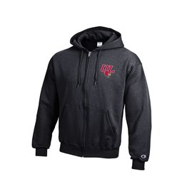 Champion Products HOODY, FZ, 2 PLACE, CHARCOAL, UL-C