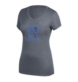 Top of the World TEE, LADIES, SS, V NECK, GRAND SLAM, UK