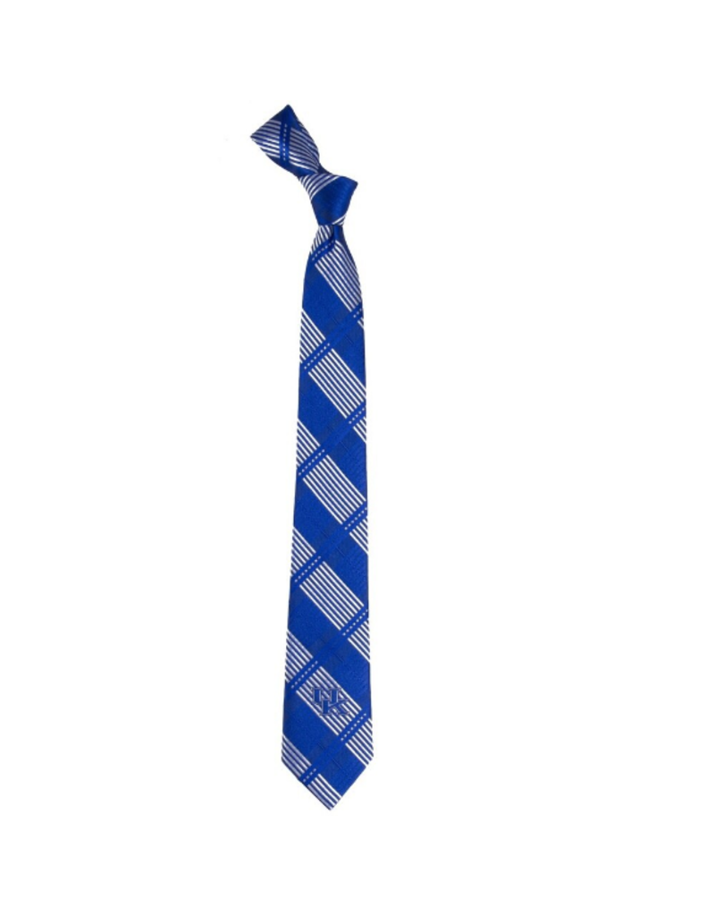 Eagles Wings Neck Tie TIE, SKINNY PLAID, ROYAL, UK