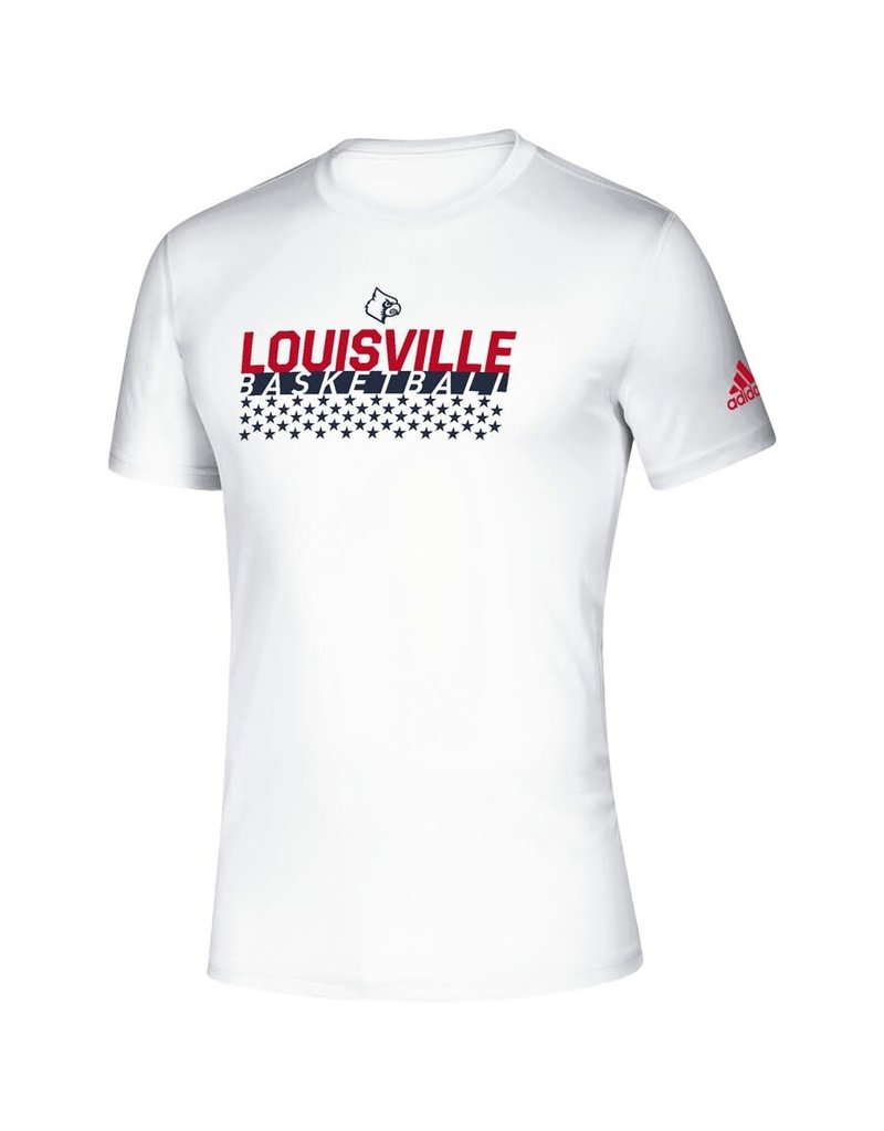 Adidas Sports Licensed TEE, SS, ADIDAS, SALUTE TO, WHITE, UL-C