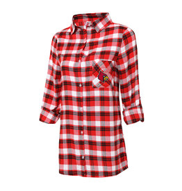 Concept Sports SHIRT, LADIES, NIGHTSHIRT,RED/BLK, UL
