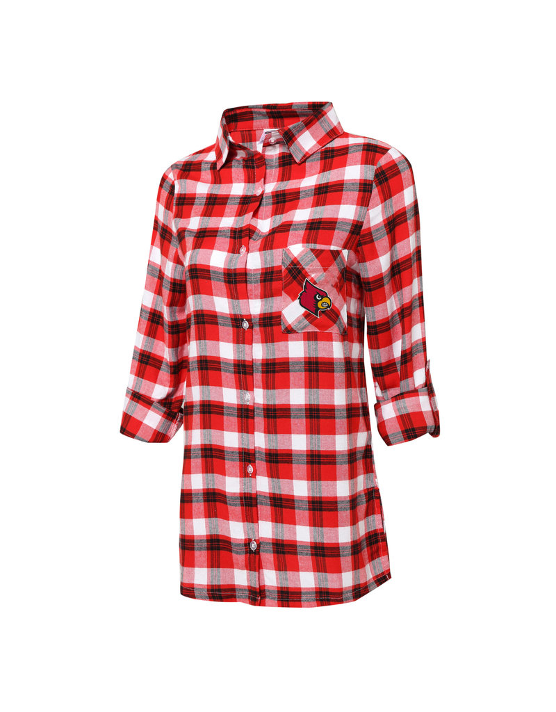 Concept Sports SHIRT, LADIES, NIGHTSHIRT, RED/BLK, UL