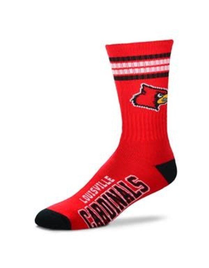 Bare Feet SOCKS, 4-STRIPE, RED, YOUTH, UL