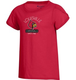Champion Products TEE, YOUTH, GIRLS, GIRLY TEE, RED, UL