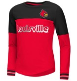 Colosseum Athletics TEE, YOUTH, LS, GIRLS, CHOCTAW, RED, UL