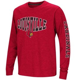 Colosseum Athletics TEE, YOUTH, LS, SPIKE, RED, UL