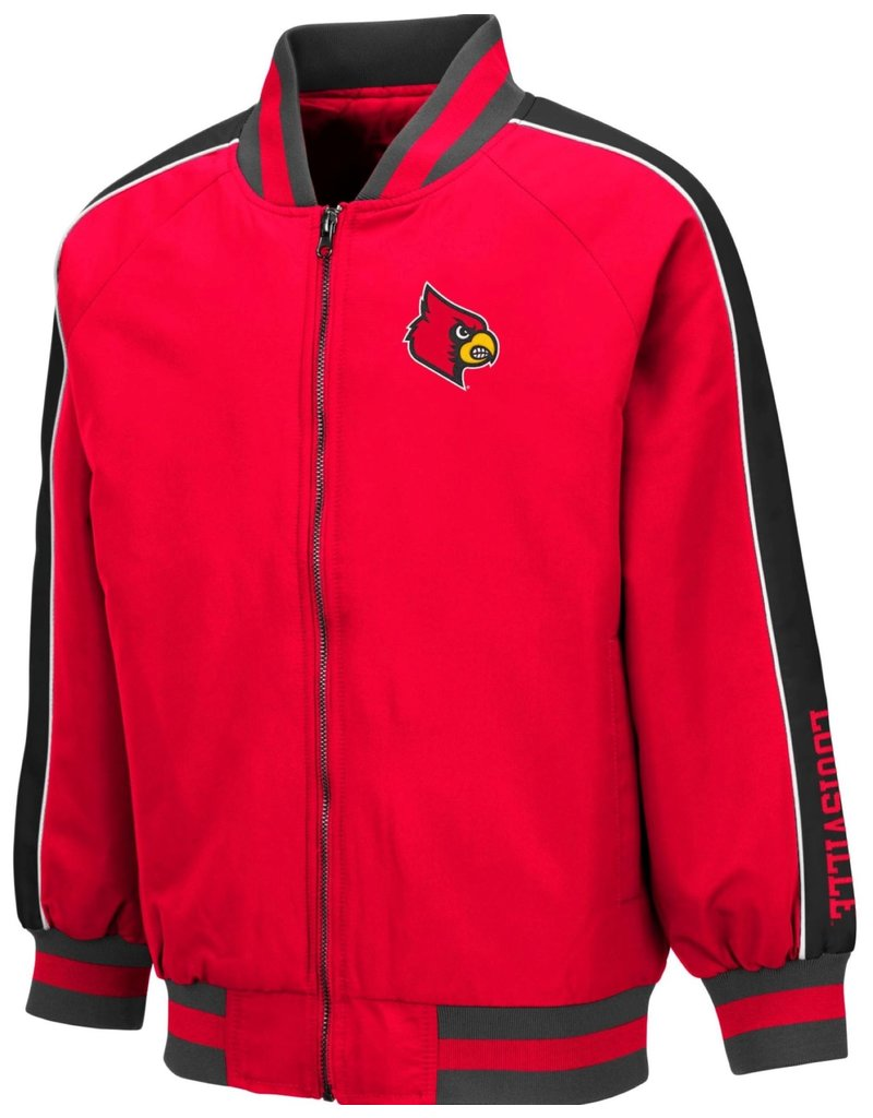 Colosseum Athletics JACKET, YOUTH, CODGER, RED/BLK, UL