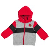 Colosseum Athletics HOODY, INFANT, FZ, SNOWPLOUGH, GRY/RED, UL