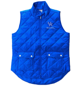 VEST, LADIES, SNAP POCKET, ROYAL, UK