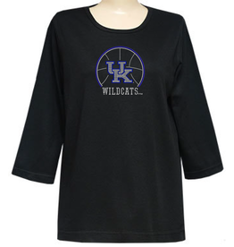 TEE, LADIES, 3/4 SLEEVE, STONES, BBALL, UK