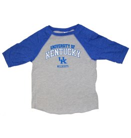 Little King TEE, TODDLER, LS, RAGLAN, ROY/GRAY, UK