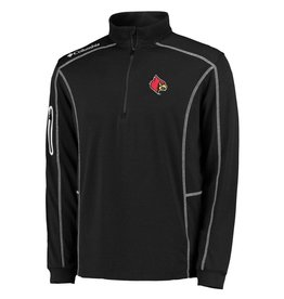 PULLOVER, 1/4 ZIP, SHOTGUN, BLK/RED, UL