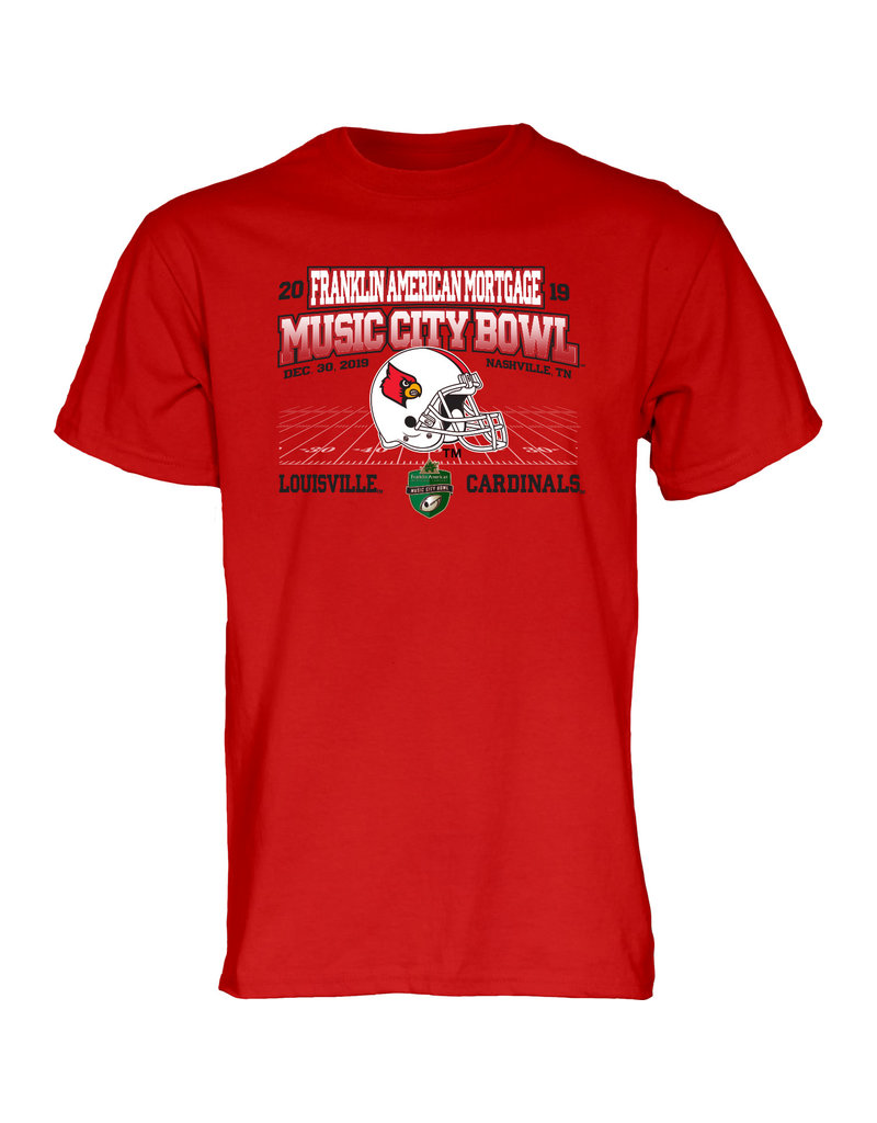 BLUE 84 TEE, SS, MUSIC CITY BOWL, RED, UL