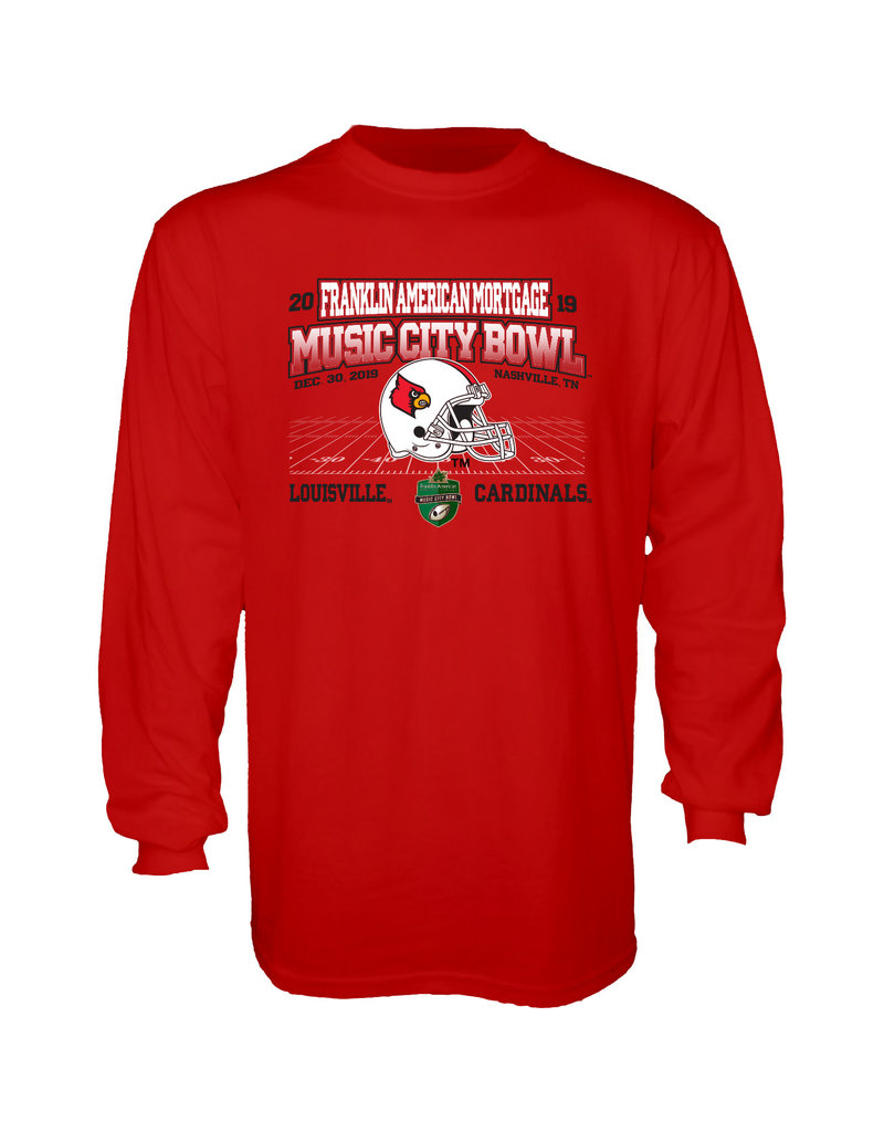 Step Ahead Sportswear TEE, LS, MUSIC CITY BOWL, RED, UL