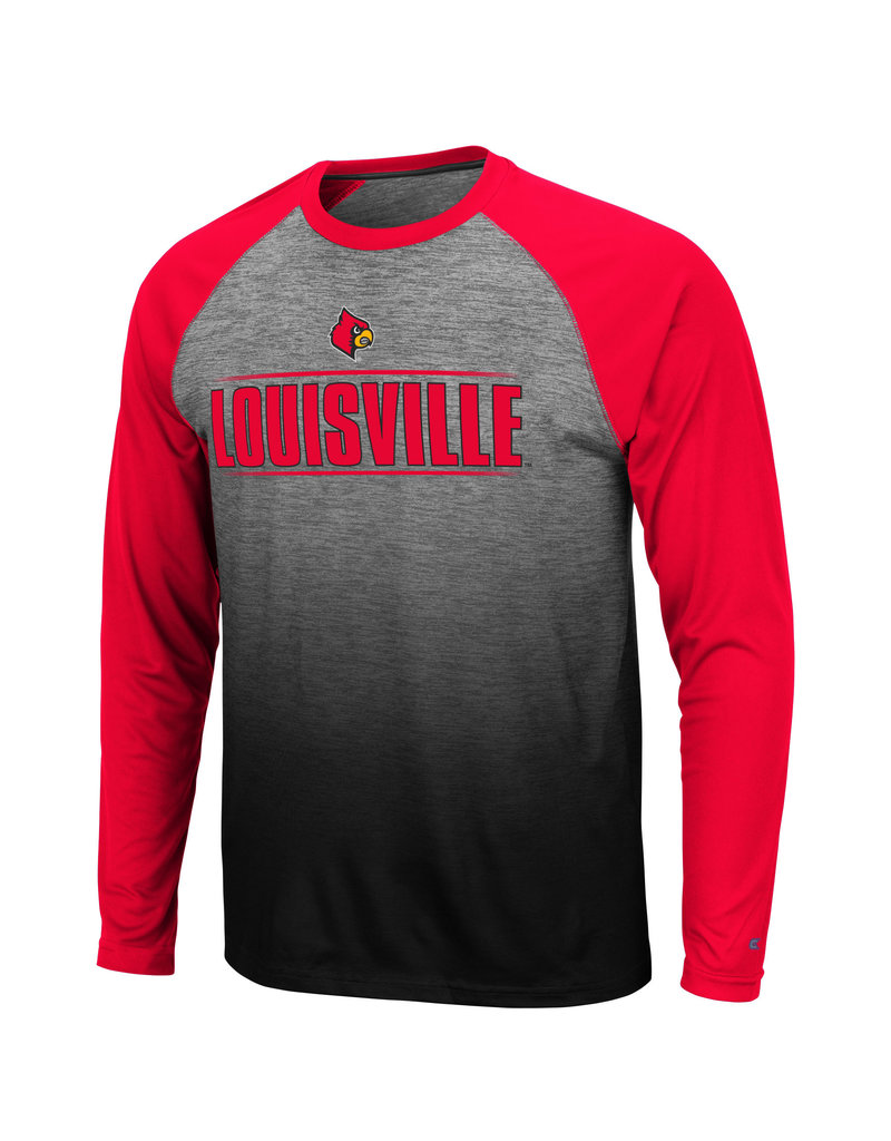 Colosseum Athletics TEE, LS, SUBLIMATED, SITWELL, GREY/RED, UL-C