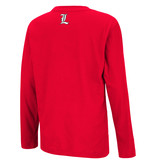 Colosseum Athletics TEE, YOUTH, LS, BEAKER, RED, UL